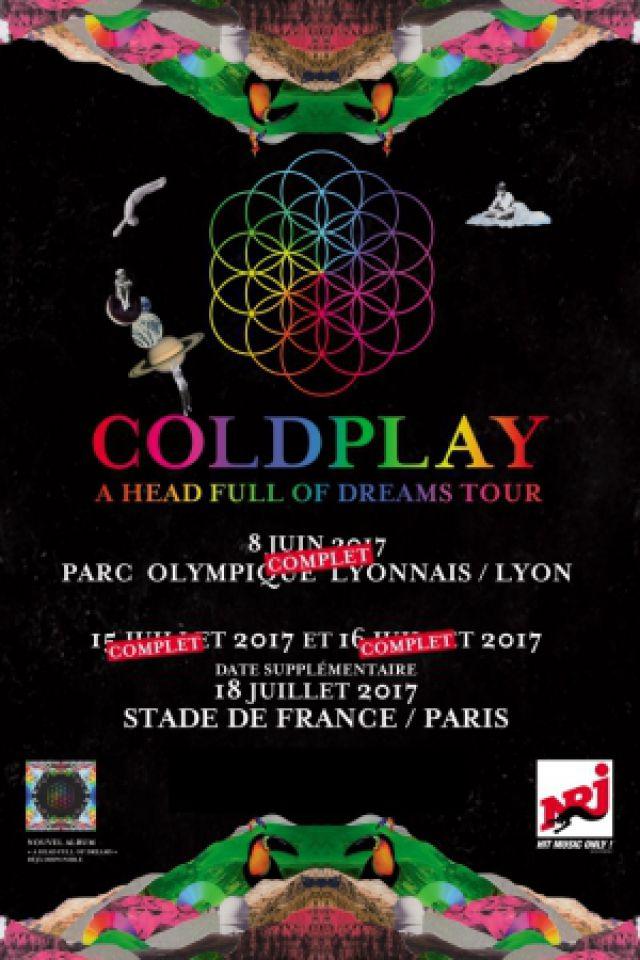 Concert COLDPLAY à SAINT DENIS @ Stade de France - Billets & Places