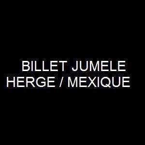 Expo HERGE/MEXIQUE - BILLET JUMELE