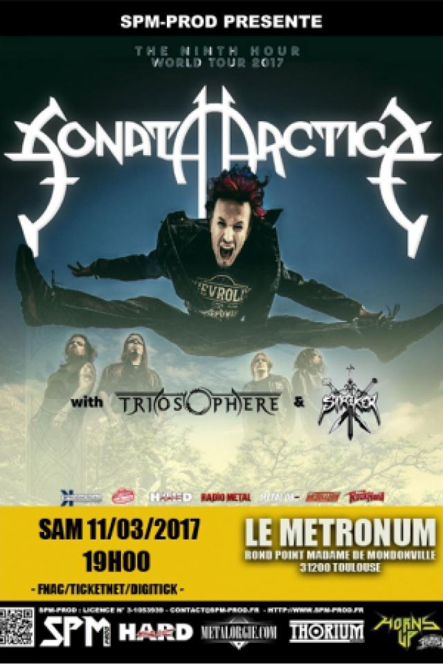 Sonata Arctica + Triosphere + Striker @  LE METRONUM - TOULOUSE