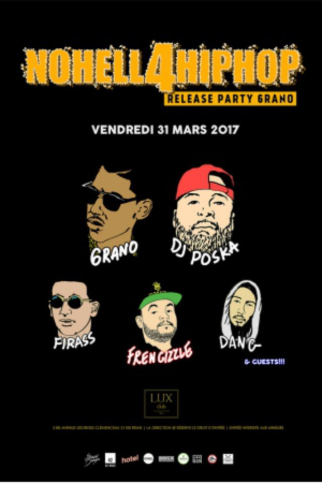Release Party 6RANO w/ DJ POSKA • iamfirass • Frencizzle •D A N G @ Lux Club - REIMS