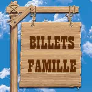 BILLET FAMILLE 4 PERSONNES - AVRIL @ OK CORRAL - CUGES LES PINS