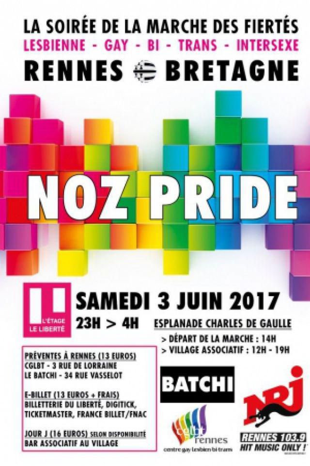 NOZ PRIDE @ Liberté // L'Etage - RENNES