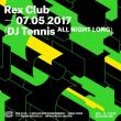 Soirée DJ TENNIS ALL NIGHT LONG à PARIS @ Le Rex Club - Billets & Places
