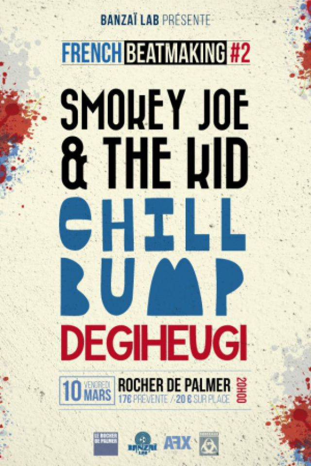 Concert Smokey Joe & The Kid + Chill Bump + Degiheugi