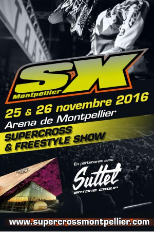 SUPERCROSS DE MONTPELLIER-CHAMPIONNAT DE FRANCE SX TOUR @ ARENA - Montpellier