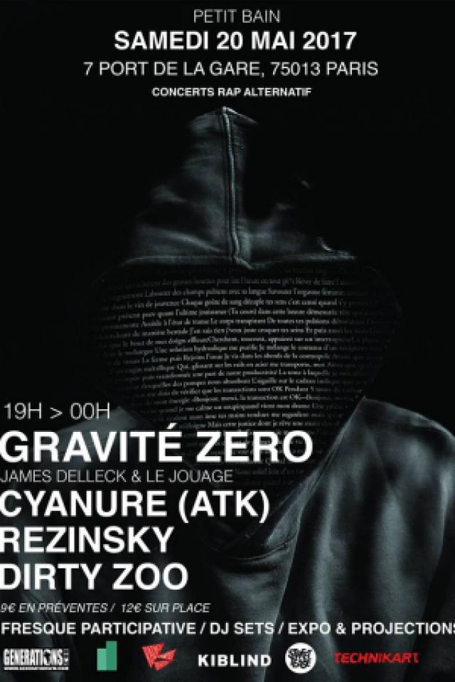 Concert Gravité Zéro (James Delleck & Le Jouage) & more  à PARIS @ Petit Bain - Billets & Places