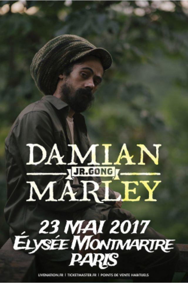 Concert DAMIAN « JR. GONG » MARLEY à PARIS @ ELYSEE MONTMARTRE - Billets & Places
