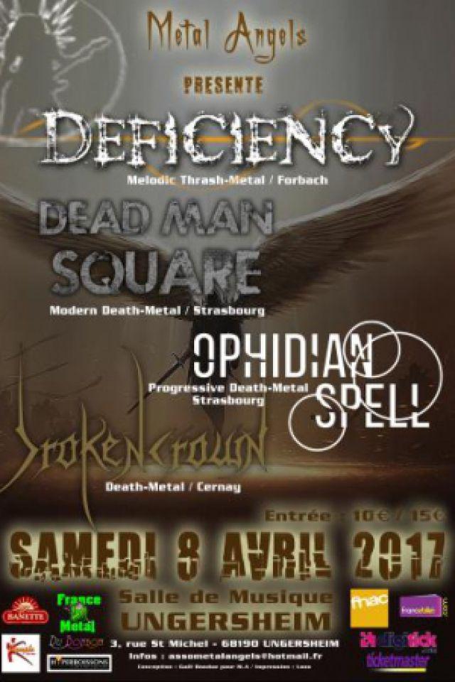 DEFICIENCY + DEAD MAN SQUARE @ Musique Espérance - UNGERSHEIM