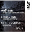 IBOAT - MICROKOSM: AND LIVE, ENDLEC LIVE, S36 B2B MENTHESIS