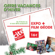 Carte Explora + 1 film à la Géode