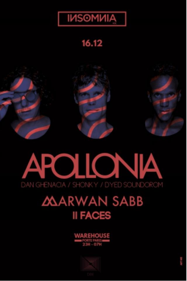 INSOMNIA rec. | APOLLONIA - Marwan Sabb  @ Docks de Paris - LA PLAINE ST DENIS