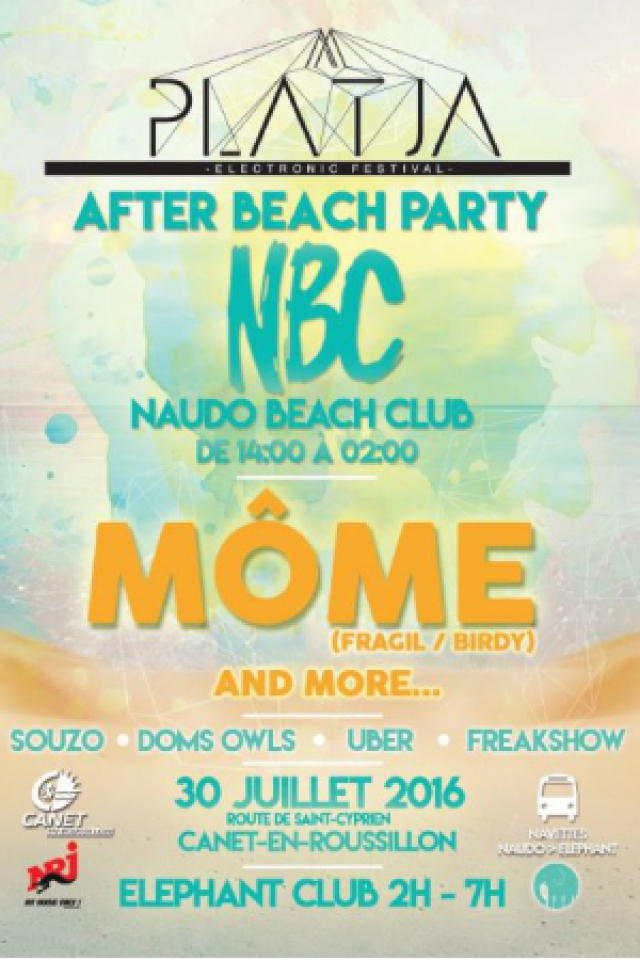 Billets OFFICIAL BEACH PARTY - MOME  - Naudo Beach Club