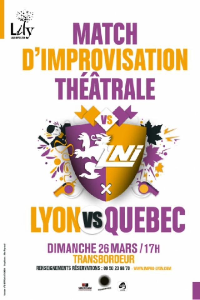 Match d'improvisation théâtrale Lyon vs Québec @ TRANSBORDEUR - Villeurbanne