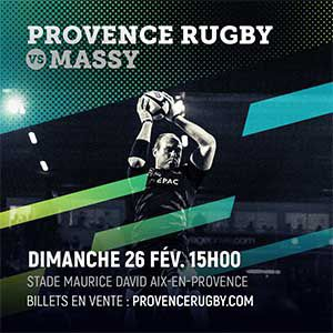 Billets PROVENCE RUGBY / MASSY - Stade Maurice-David