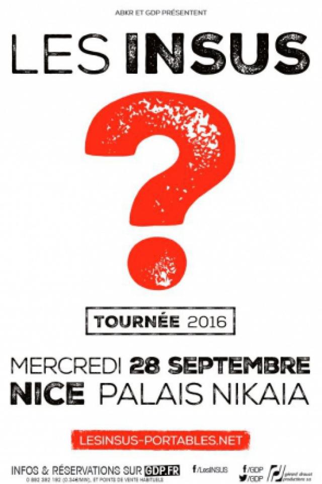 Billets LES INSUS - Le Palais Nikaia