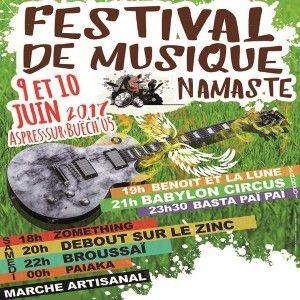 PASS 2 JOURS - FESTIVAL NAMASTE @ Le Chevalet - ASPRES SUR BUËCH