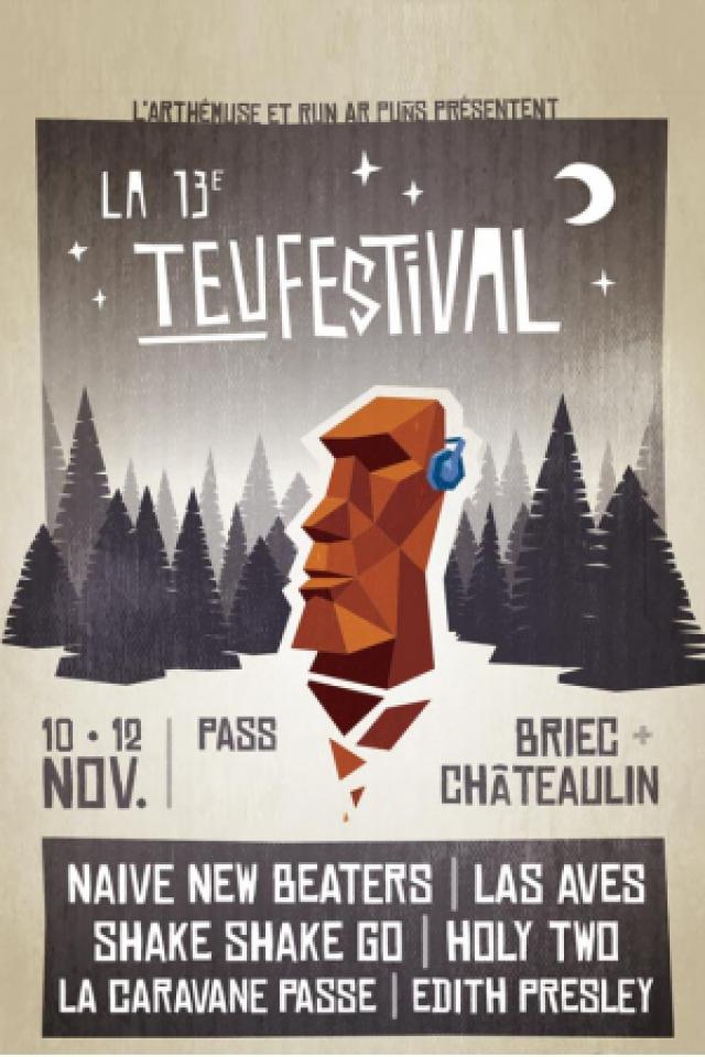 LA TEUFESTIVAL #13 -  NAÏVE NEW BEATERS/SHAKE SHAKE GO @ CENTRE CULTUREL ARTHEMUSE - BRIEC