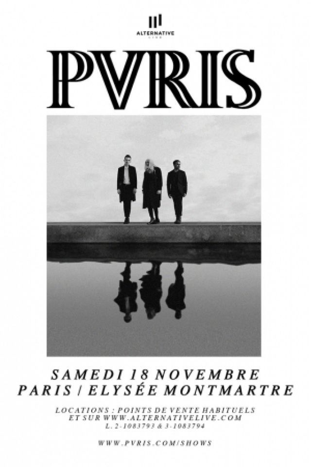 Concert PVRIS à PARIS @ ELYSEE MONTMARTRE - Billets & Places