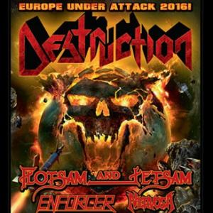 DESTRUCTION + FLOTSAM & JETSAM + ENFORCER + NERVOSA @ La Laiterie - Grande Salle - Strasbourg