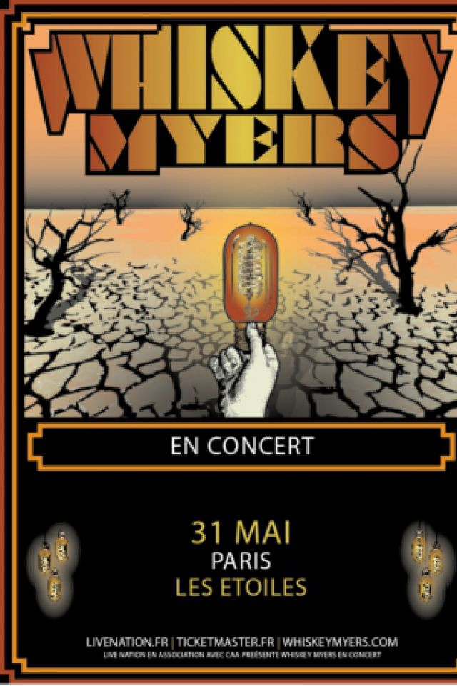 Billets WHISKEY MYERS - THEATRE LES ETOILES