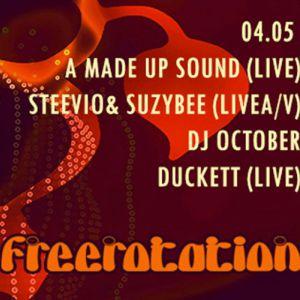 Soirée Freerotation w/ A Made Up Sound / Steevio & Suzybee / October