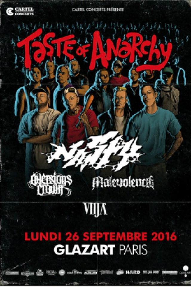 Billets NASTY + AVERSIONS CROWN + MALEVOLENCE + VITJA  - Glazart