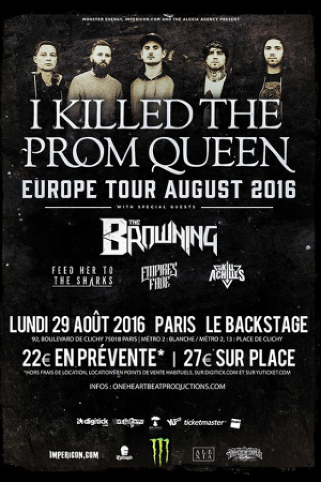 Billets I KILLED THE PROM QUEEN + THE BROWNING + INVITÉS - Le Backstage by The Mill