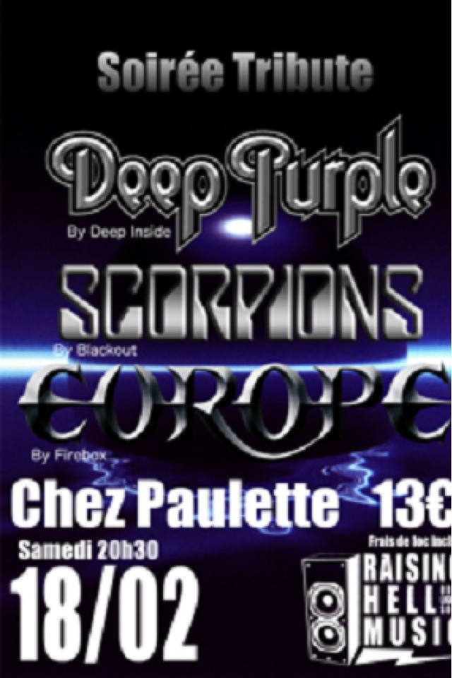Concert Soirée Tribute Deep Purple Scorpions Europe