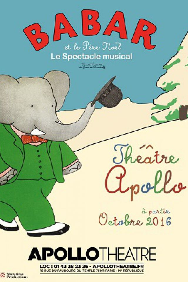 BABAR et le Père Noël - Le Spectacle musical @ APOLLO THEATRE - PARIS