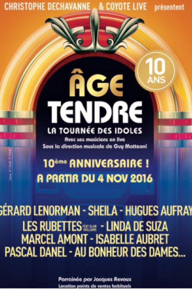 """AGE TENDRE """"Nouvelle Tournée 2016"""" @ Zénith - ST ETIENNE"""