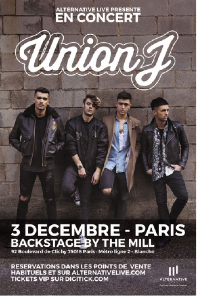 UNION J @ Le Backstage by The Mill - Paris