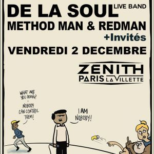Concert DE LA SOUL Live Band + Methodman & Redman + Invit�s