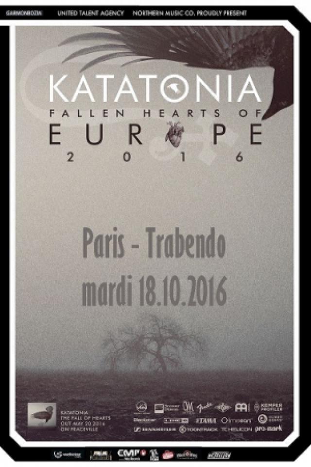 "KATATONIA ""Fallen Hearts of Europe Tour 2016"" + GUEST @ Le Trabendo - Paris"