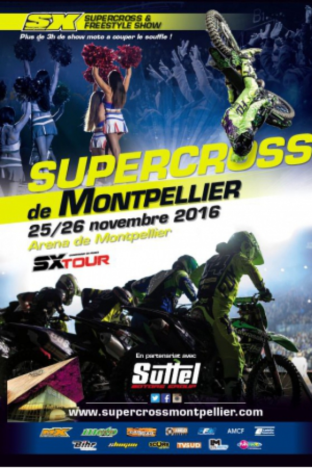 SUPERCROSS DE MONTPELLIER-CHAMPIONNAT DE FRANCE SX TOUR @ ARENA - Montpellier