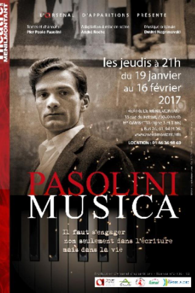 PASOLINI MUSICA @ Théâtre de Ménilmontant - Le Labo - Paris
