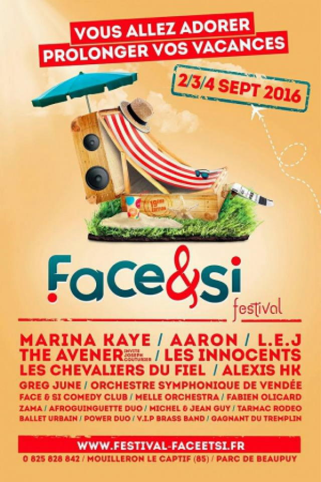 Billets FESTIVAL FACE & SI 2016 / THE AVENER-LES INNOCENTS-AARON - Parc de Beaupuy