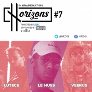 Concert HRZNS #7 - VEERUS - LE HUSS - LUTECE