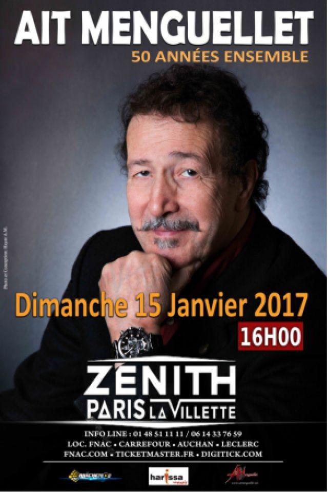 AIT MENGUELLET - 50 Années Ensemble @ Zénith Paris La Villette - Paris