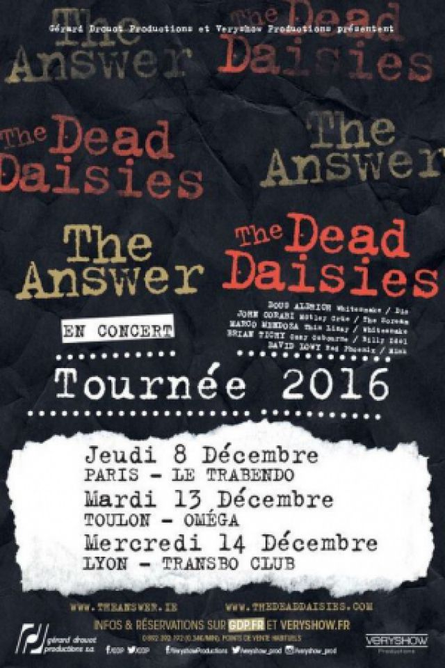 Billets THE ANSWER & THE DEAD DAISIES - Le Trabendo