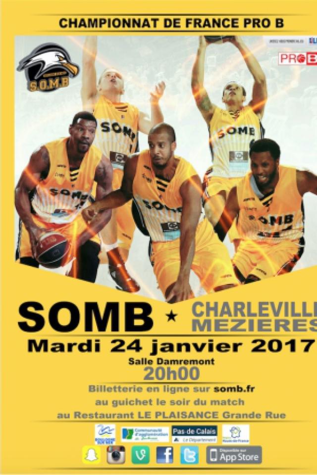 SOMB-CHARLEVILLE PRO B @ Salle Damrémont - BOULOGNE SUR MER