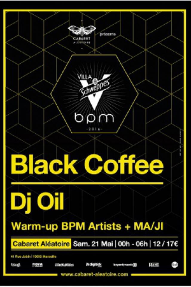 Concert Villa Schweppes BPM 2016 : Black Coffee - DJ Oil à Marseille @ Cabaret Aléatoire - Billets & Places