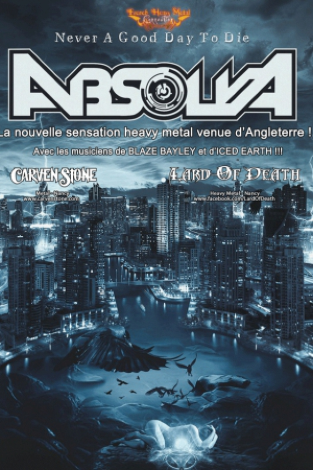 Concert ABSOLVA + CARVEN STONE + LARD OF DEATH