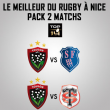 Match PACK RC TOULON - STADE FRANCAIS PARIS + STADE TOULOUSAIN