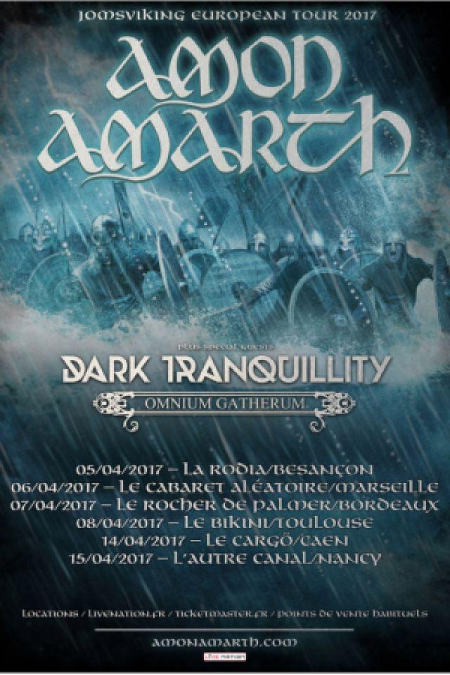AMON AMARTH + Dark Tranquility + Omnium Gatherum @ Cabaret Aléatoire - Marseille