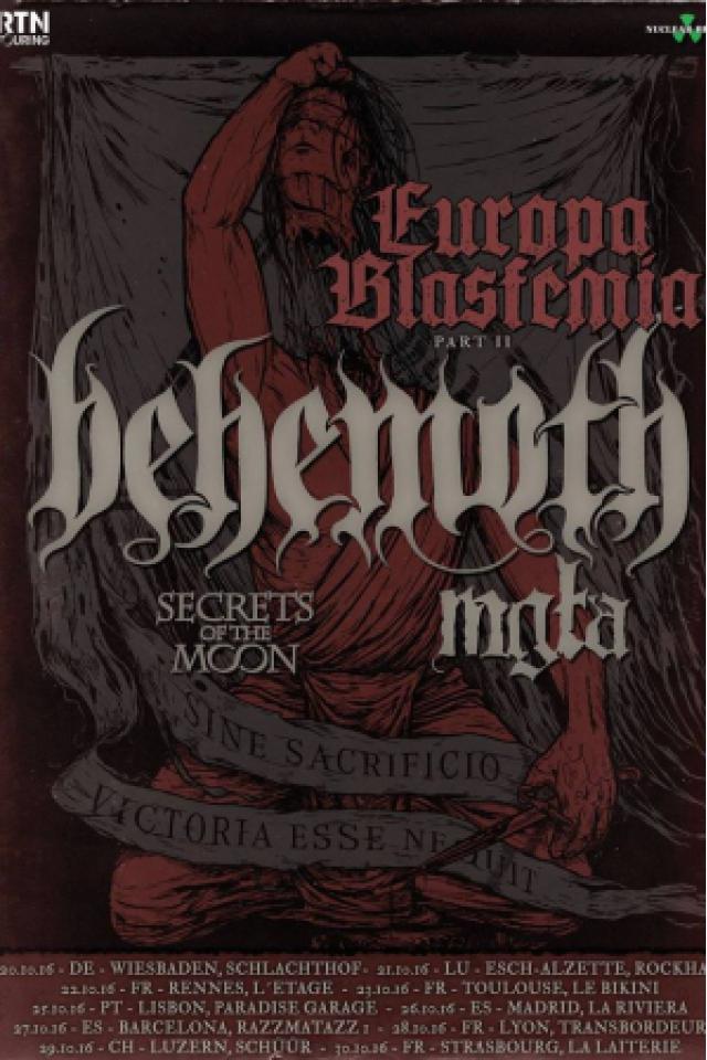 "Concert BEHEMOTH ""Europa Blasfemia Part II"""