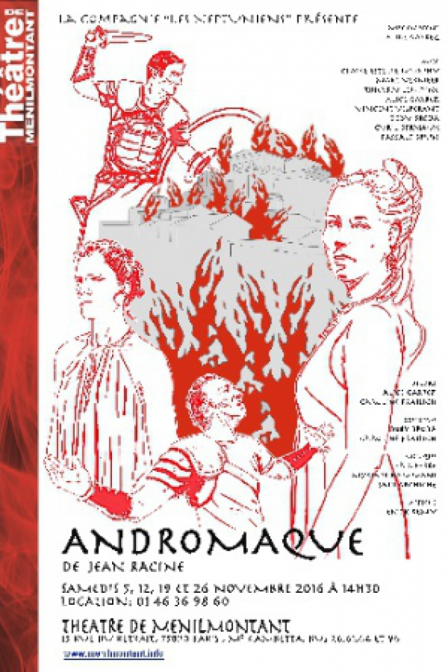 Andromaque @ Théâtre de Ménilmontant - Salle XL - Paris