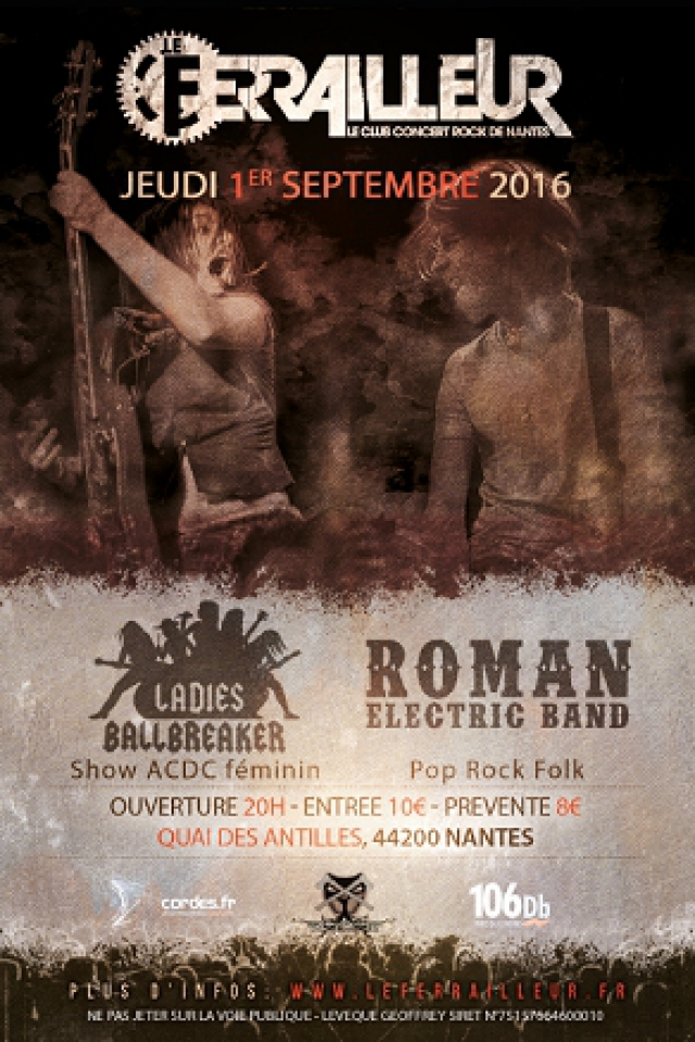 Concert LADIES BALLBREAKER + ROMAN ELECTRIC BAND