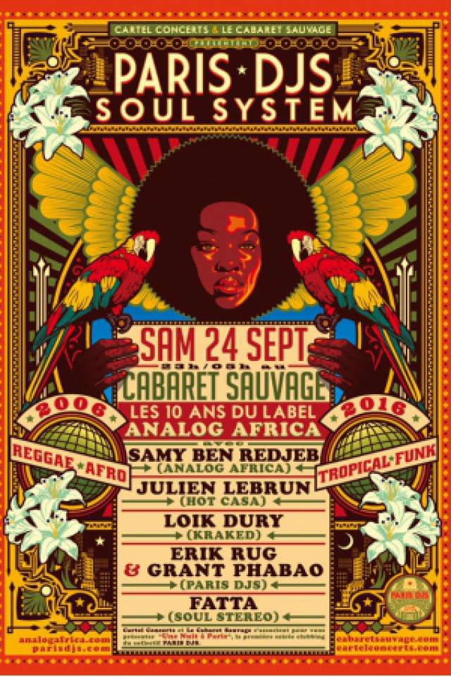 Soirée A PARIS DJS NIGHT : ANALOG AFRICA Birthday Party ! @ Cabaret Sauvage - Billets & Places