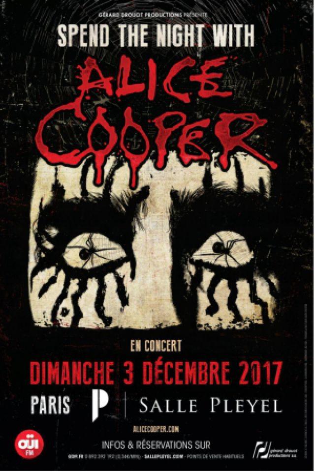 Concert ALICE COOPER à Paris @ Salle Pleyel - Billets & Places