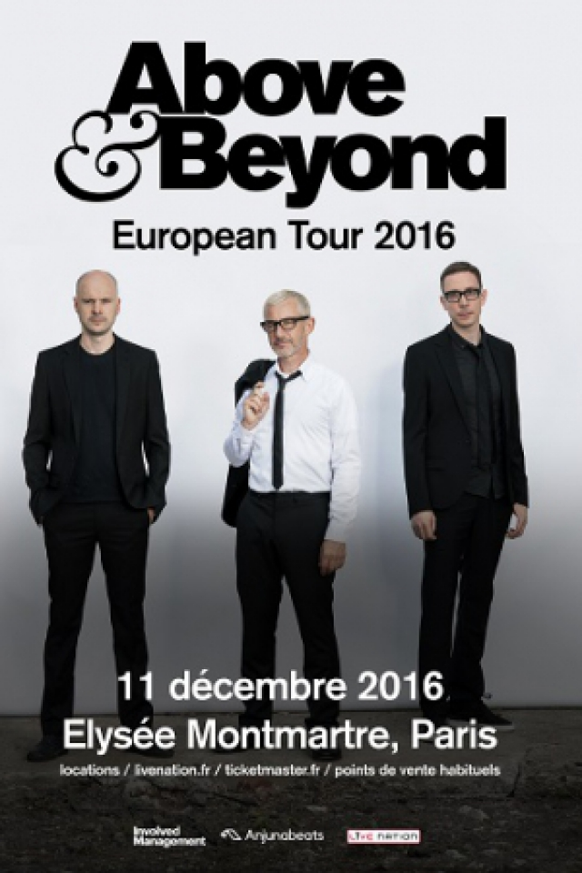Billets ABOVE & BEYOND - ELYSEE MONTMARTRE